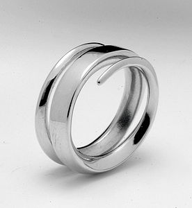 18ct White Gold Full Spiral Ring - rings