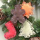 Tan Suede Gingerbread Man Decoration