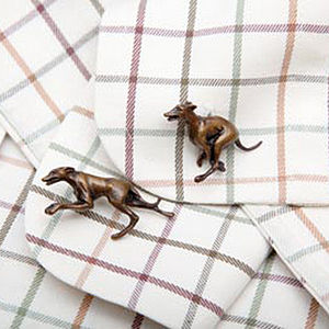 Bronze Greyhound Cufflinks