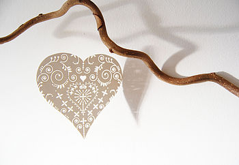 Laser Cut Heart Mobile Decorations