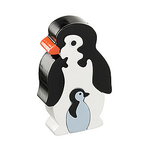 Jigsaw Wooden Penguin and baby