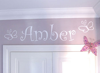 Butterflies Personalised Wall Sticker