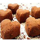 Twelve Handmade Heart Shaped Chocolate Truffles in Decorated Gift Box