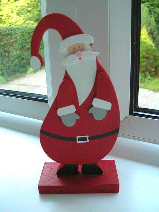 Christmas Wooden Santa Or Snowman By Tailored Chocolates