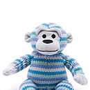 blue knitted monkey