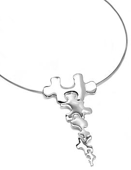 Jigsaw Long Drop Pendant