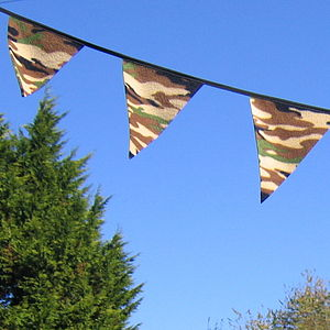 Boys Camouflage Bunting - children's parties