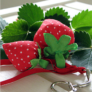 Strawberry Bag Charm/Keychain - bag charms