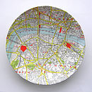 Central London Map Dish