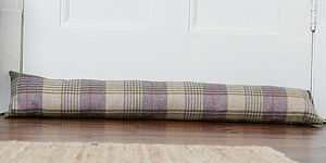 Wool and Tartan Draught Excluder - living room