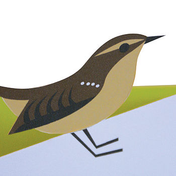 Jenny Wren Cut-out Card