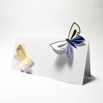 Butterflies Cut-out Card