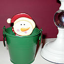 Santa/Snowman Bucket of Chocolate Balls