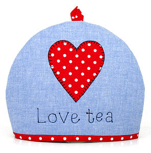 'Love Tea' Heart Tea Cosy - tea & coffee cosies