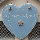 'My Heart's In...' Personalised Sign