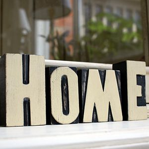 'Home' Set of Printers Block Styled Letters - decorative letters