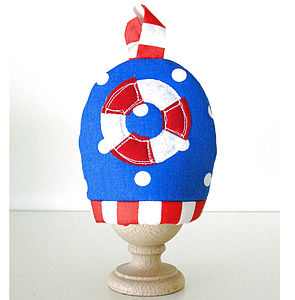 Nautical Egg Cosy - egg cups & cosies