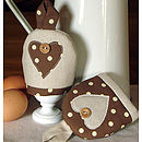 Pair of Polka-dot Egg Cosies