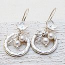 Crystal, Pearl & Silver Earrings