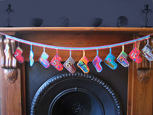 Crochet Socks Advent Calendar - view all decorations