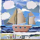 'Sail Away' Boat Collage Print