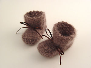 Mohair Silk Booties