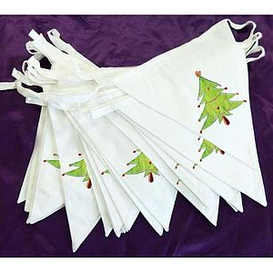 Christmas Tree Bunting - view all decorations