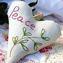 Personalised Mistletoe Christmas Heart