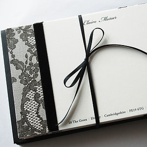 Ooh La La! French Lace Personalised Correspondence Cards - box of 10 - shop by category