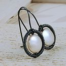 Coin Pearl & Sterling Silver Earrings