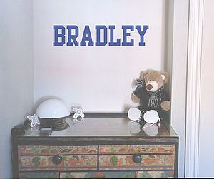 Academy Personalised Name Wall Sticker - baby's room