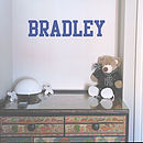 Academy Personalised Name Wall Sticker