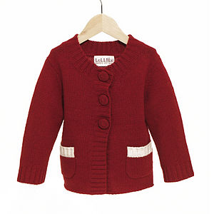 Cashmere And Wool Girls' Special Day Cardigan - view all sale items