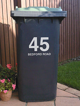 Bin Street Number and Name