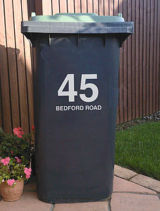 Bin Street Number and Name - art & decorations