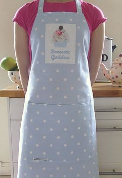 Blue personalised apron