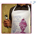 Personalised 'addicted to ice cream' apron