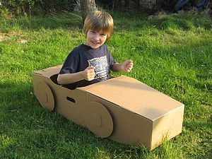 Paperpod Car Brown - outdoor toys & games