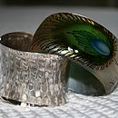 Gorgeous Hand Painted Peacock Feather Bangle