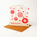Eight Pack Handmade 'Flurry' Christmas Card