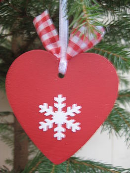 Snowflake Heart tree decoration