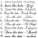 Fonts for your save the dates