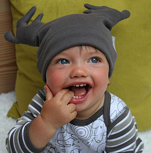 Baby Christmas Hat Grey - cosy clothing