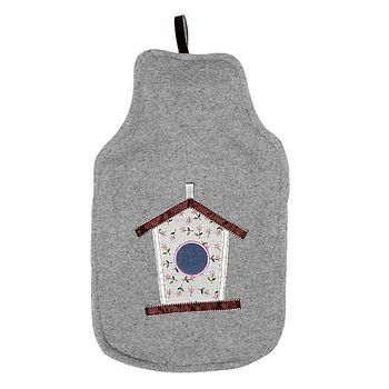 BIRD HOUSE HOT WATER BOTTLE