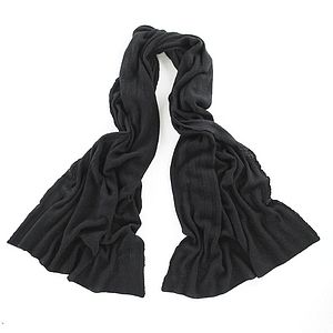 Large 100% Cashmere Knitted Scarf/Wrap/Shawl