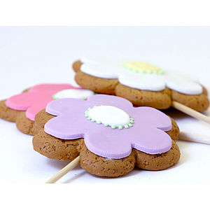 Flower Cookie Bouquet - biscuits