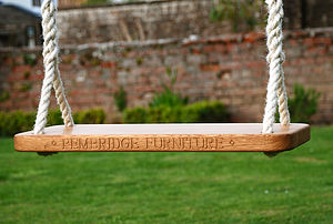 Oak Garden Frame Swing - baby & child