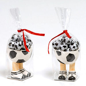 Footballers Chocolate Filled Egg Cup - food & drink gifts