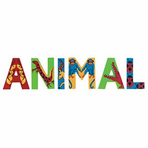 Animal Wooden Letters - home