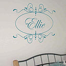 Personalised Motif Name Wall Sticker